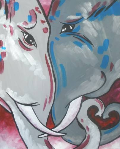 A eLOVEphant paint nite project by Yaymaker