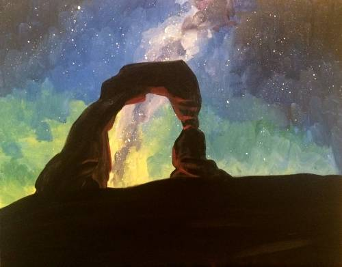A Red Rocks and Starry Skies paint nite project by Yaymaker