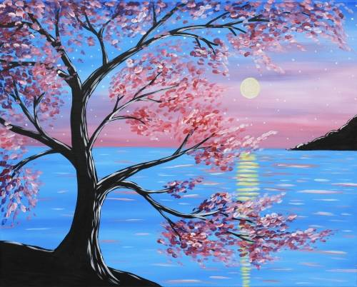 A Blossoms by the Beach paint nite project by Yaymaker