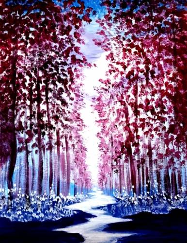 A Theres Magic in the Forest paint nite project by Yaymaker