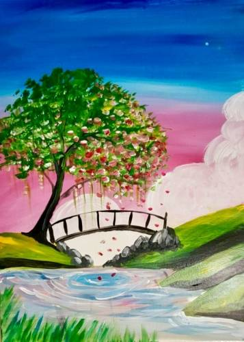 A Spring Reflections paint nite project by Yaymaker