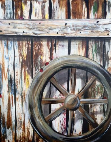 A Rustic Charm paint nite project by Yaymaker