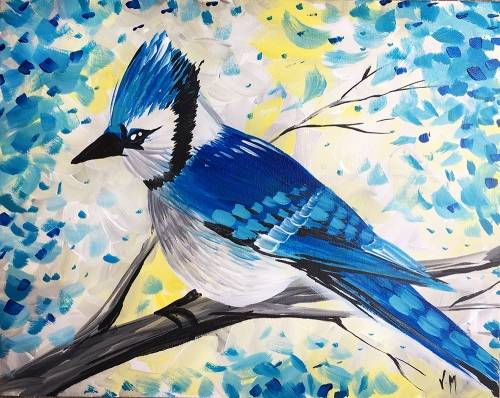 A Blue Jay paint nite project by Yaymaker