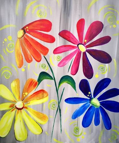 A ColorFULL Daisy Delight paint nite project by Yaymaker