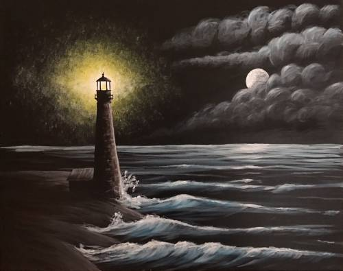 A Lighthouse at Sherman Point paint nite project by Yaymaker