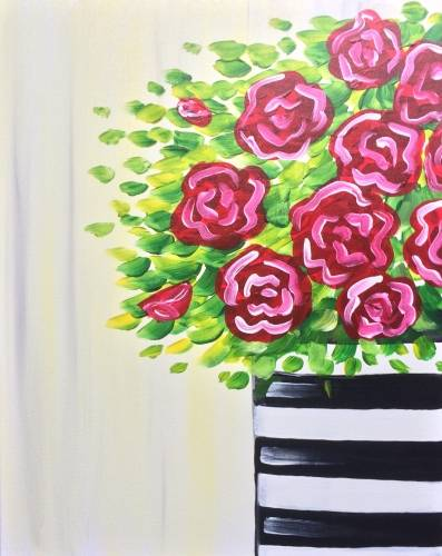 A Who Doesnt Love Roses paint nite project by Yaymaker