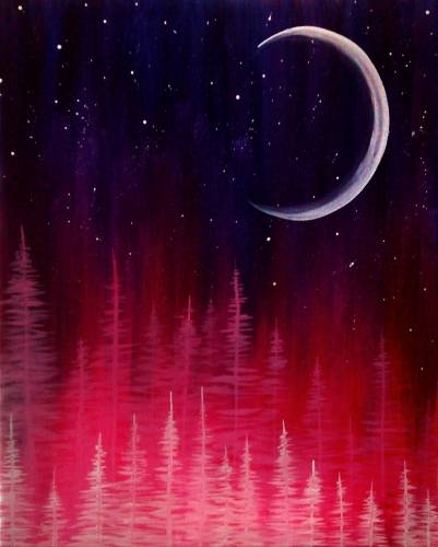 A Northern Moon paint nite project by Yaymaker
