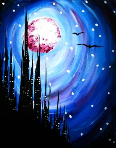 A Castle in the Sky paint nite project by Yaymaker