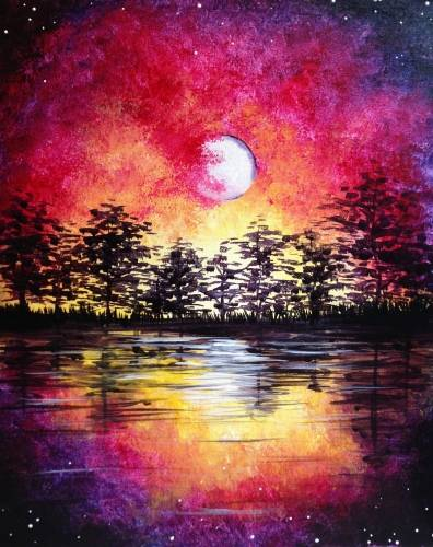 A Midsummer Moonrise paint nite project by Yaymaker