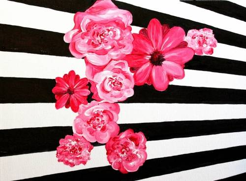 A Amelias Flowers paint nite project by Yaymaker