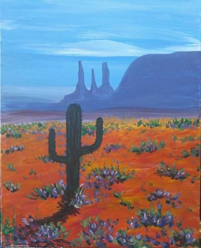 A Cactus Bloom II paint nite project by Yaymaker