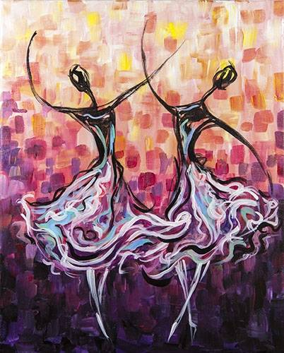 A Dancers II paint nite project by Yaymaker