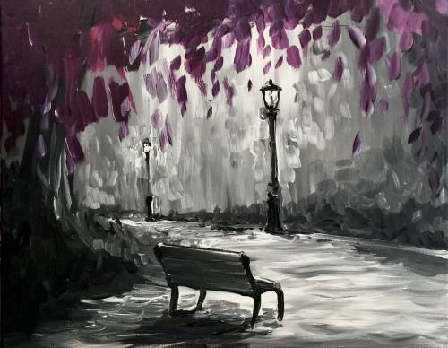 A Purple Park Passion paint nite project by Yaymaker