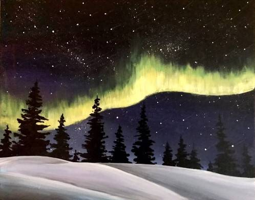 A Roaring Aurora paint nite project by Yaymaker