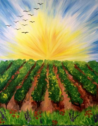 A Afternoon Vineyard paint nite project by Yaymaker