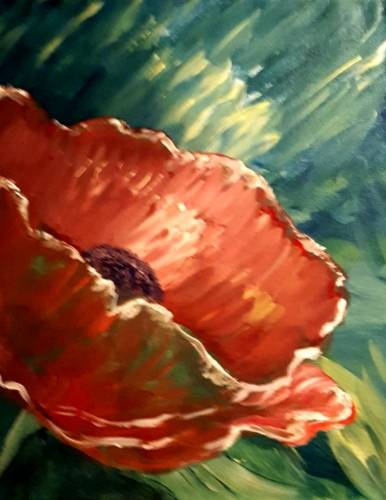 A Poppy Love II paint nite project by Yaymaker