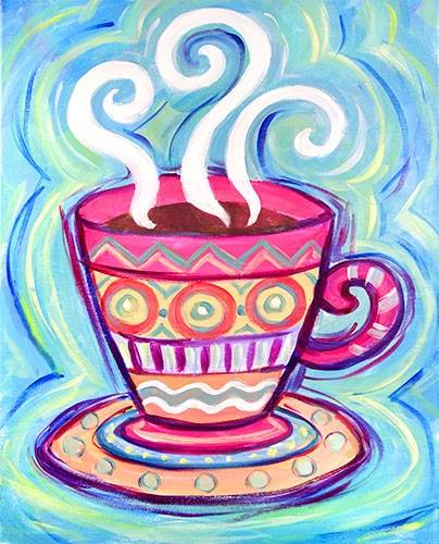 A Funky Cup paint nite project by Yaymaker