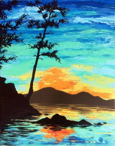 A Sunrise Cove paint nite project by Yaymaker