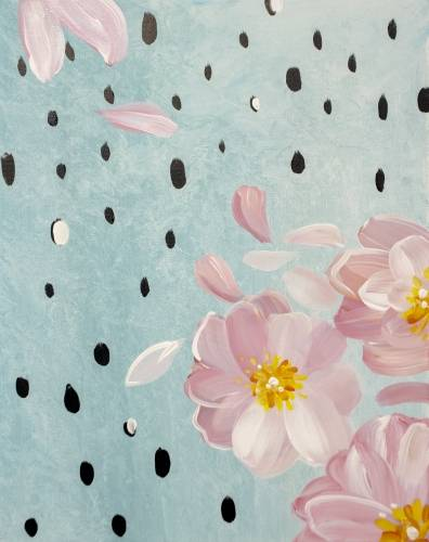 A Raindrops On Roses paint nite project by Yaymaker