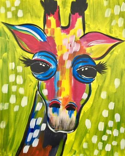 A Giraffe Fever paint nite project by Yaymaker
