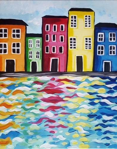A Colorful East Coast Life paint nite project by Yaymaker