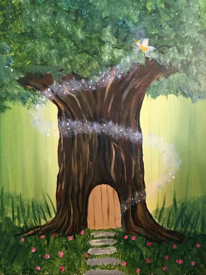 A Forest Fairy paint nite project by Yaymaker