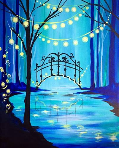 A Let Magic Light Your Way paint nite project by Yaymaker