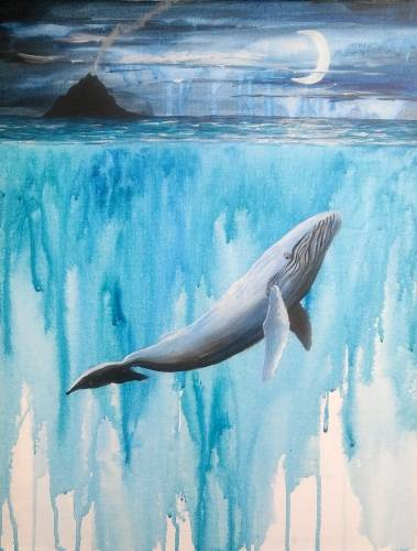 A Pacific Whales paint nite project by Yaymaker