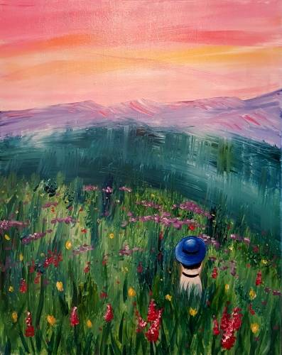 A Wild Flower Wanderer paint nite project by Yaymaker