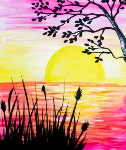 A Sunset Lake III paint nite project by Yaymaker