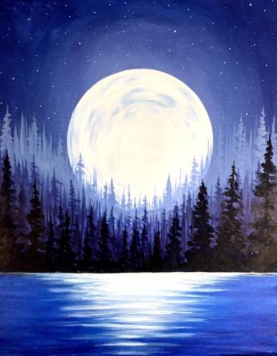 A Purple Super Moon paint nite project by Yaymaker