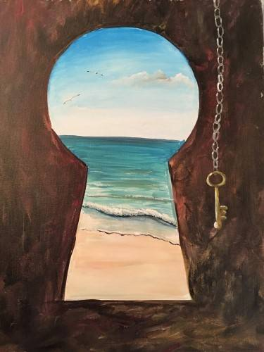 A Key to the Beach paint nite project by Yaymaker