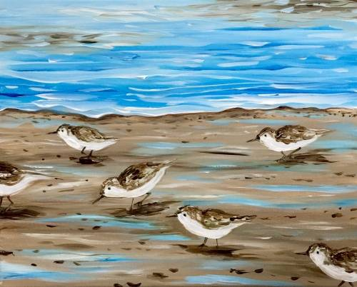 A Beachside Pipers paint nite project by Yaymaker
