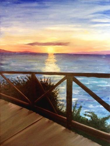 A Caribbean Sunset II paint nite project by Yaymaker