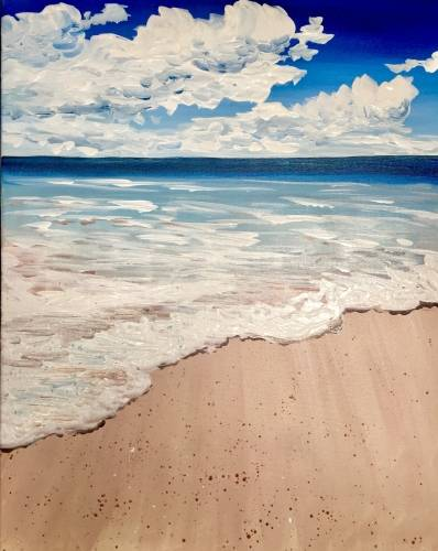 A Crystal Blue Beach paint nite project by Yaymaker