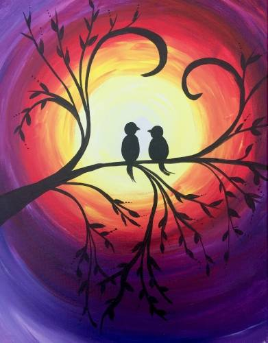 A Summer Lovin paint nite project by Yaymaker