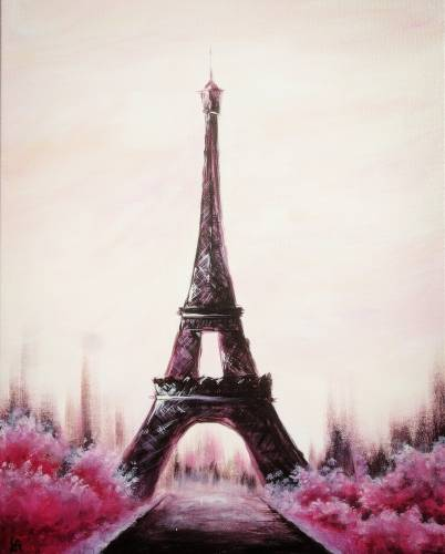 A Serene Paris paint nite project by Yaymaker