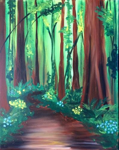 A Redwood Trail paint nite project by Yaymaker