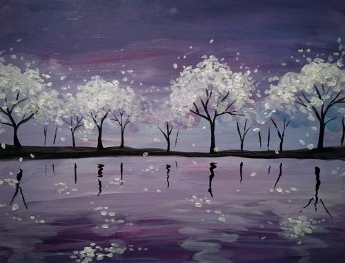 A In Bloom II paint nite project by Yaymaker