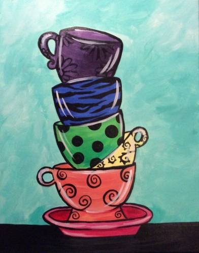A Tipsy Teacups paint nite project by Yaymaker