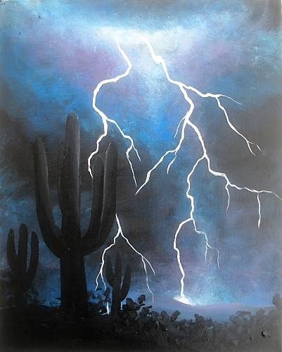 A Desert Lightning paint nite project by Yaymaker