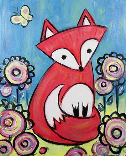 A Garden Fox paint nite project by Yaymaker