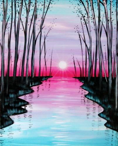 A Glow of Summer paint nite project by Yaymaker
