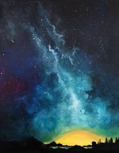 A Under the Milky Way paint nite project by Yaymaker