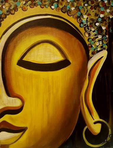 A Golden Buddha paint nite project by Yaymaker