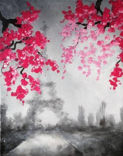 A Blossoms In Paris II paint nite project by Yaymaker