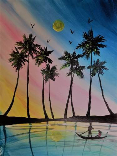 A Love is in Ocean Isle paint nite project by Yaymaker