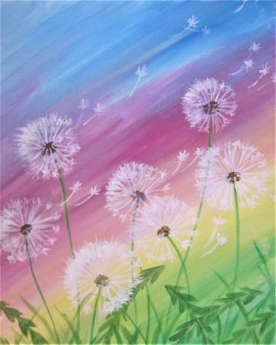 A Gone to Seed in a Rainbow paint nite project by Yaymaker