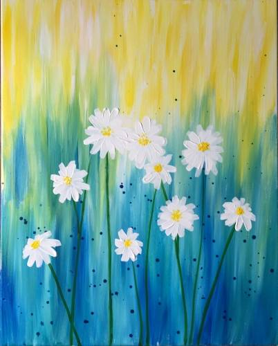 A Dreaming of Daisies paint nite project by Yaymaker