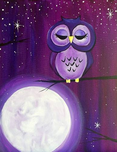 A The Owl on the Moon paint nite project by Yaymaker
